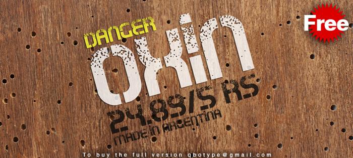 Oxin War Font poster