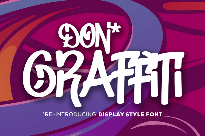 Don Graffiti Font poster