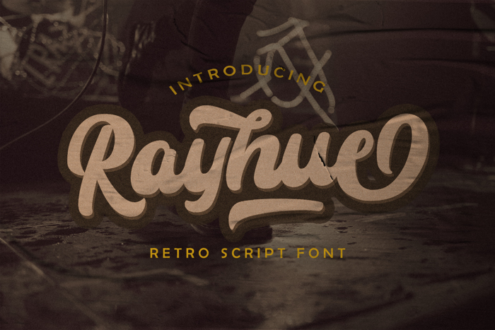Rayhue Font poster
