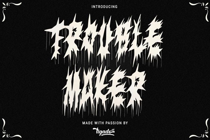 Trouble Maker Font poster
