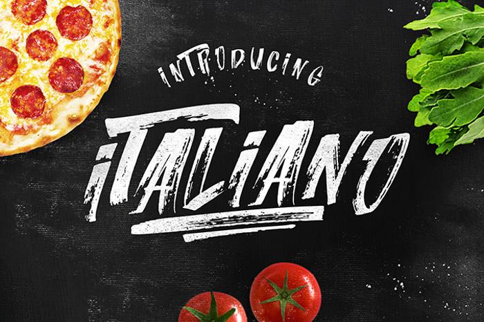 Italiano  Font poster
