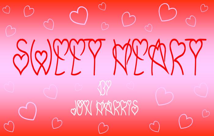Sweet Heart Font poster