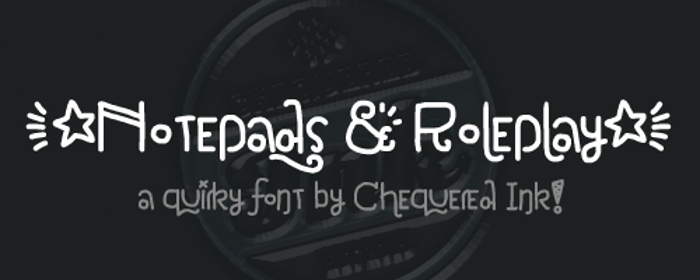 Notepads & Roleplay Font poster