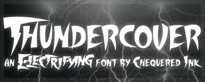Thundercover Font poster