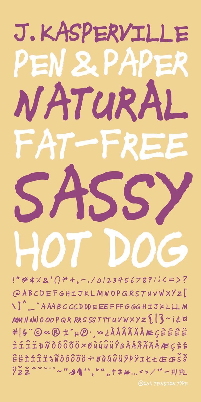 J.Kasperville Font poster