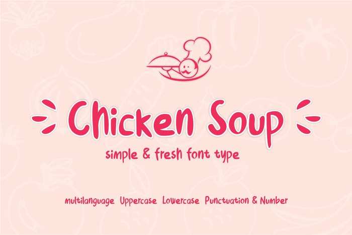 Chicken Soup Font poster