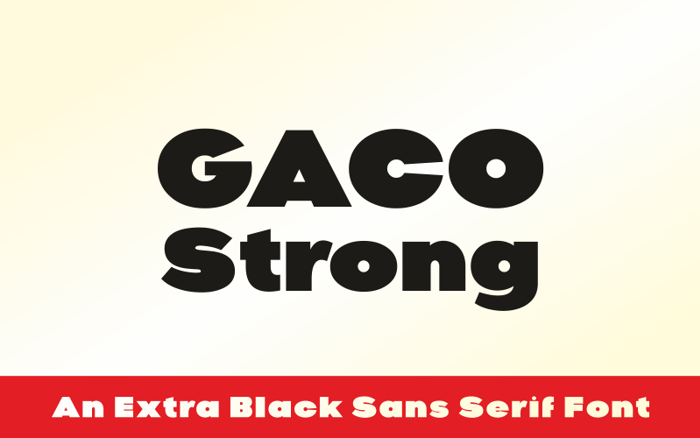 Gaco Strong Font poster