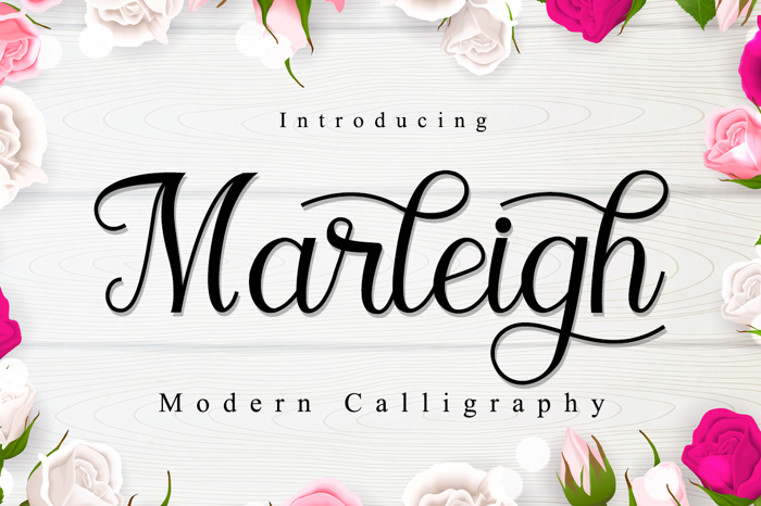 Marleigh Font poster