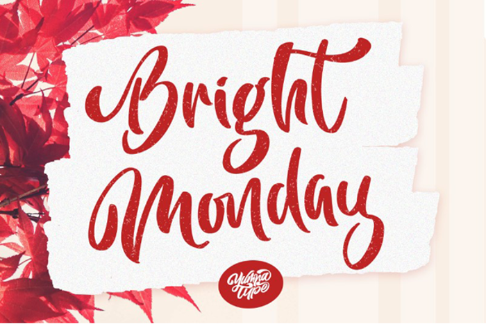 Bright Monday Font poster