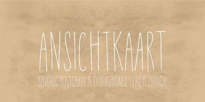 Ansichtkaart DEMO Font poster