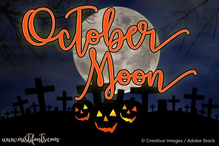 October Moon Font poster