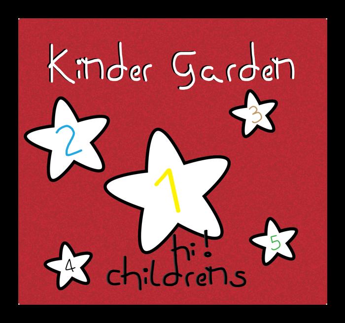 kinder garden Font poster
