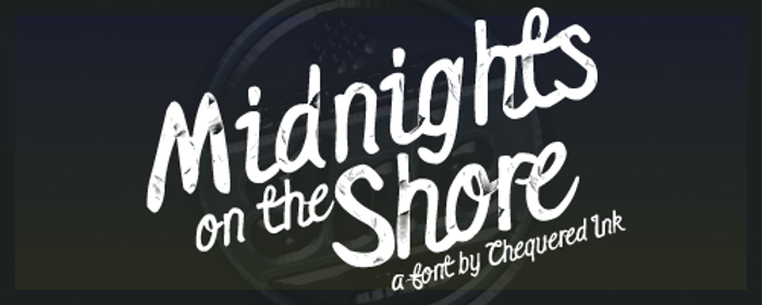 Midnights on the Shore Font poster