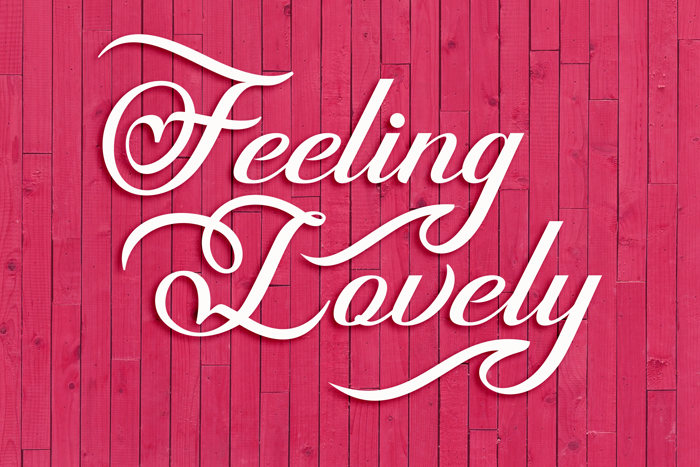 Feeling Lovely Font