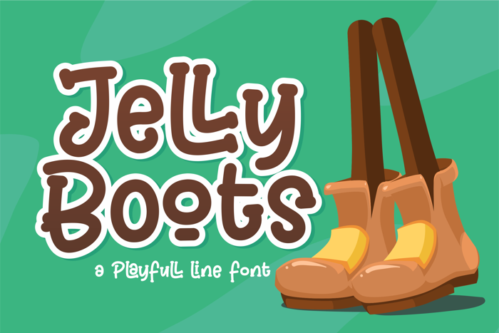 Jelly Boots Font poster