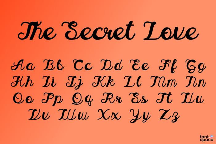 The Secret Love Font