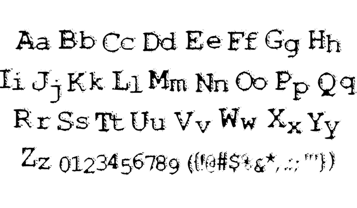 Noisebaby Font poster