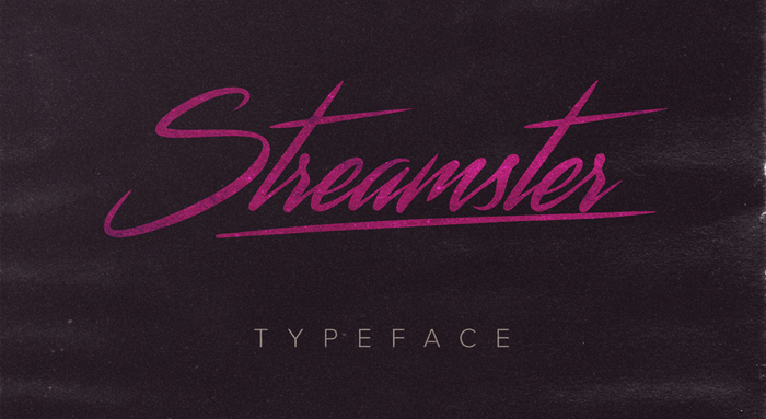 Streamster Font poster