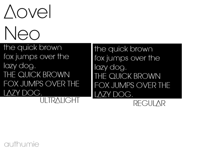 Aovel Neo Font poster