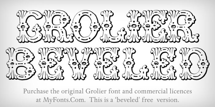 Grolier Beveled Font poster