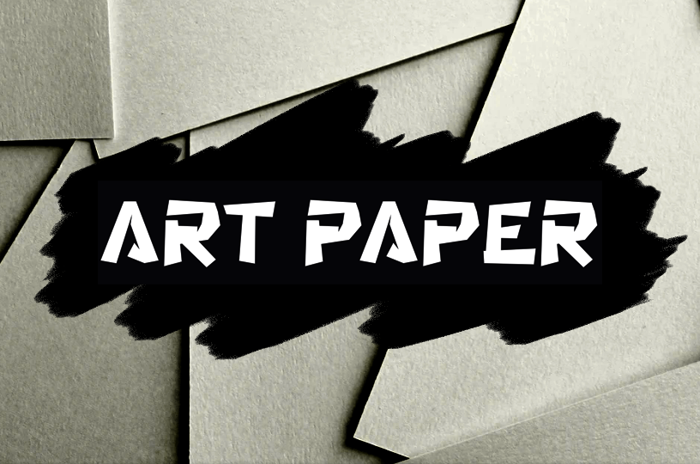 a Art Paper Font poster