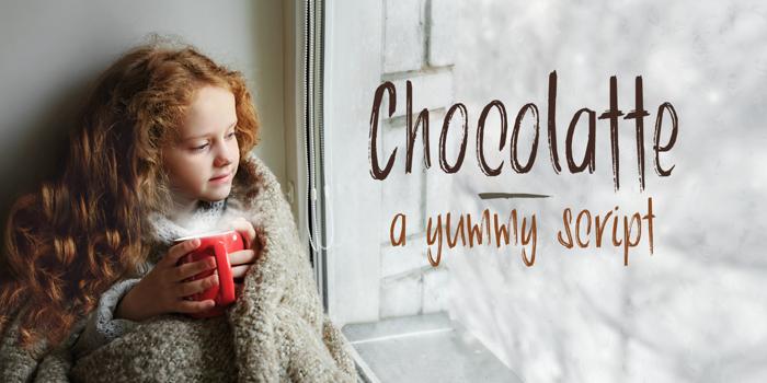 DK Chocolatte Font poster