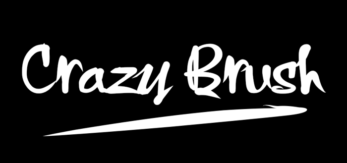 Crazy Brush Font poster