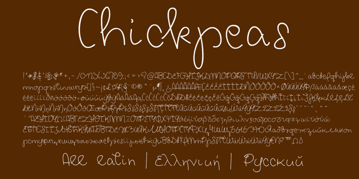 Chickpeas Demo Font poster
