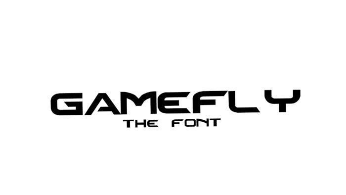 Gamefly Font poster