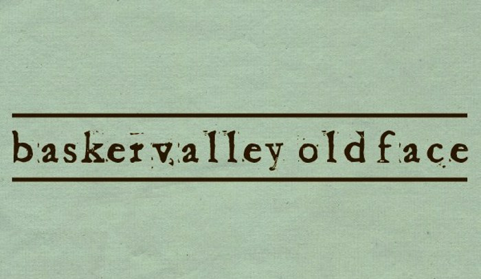 Baketvalley Old Face Font poster