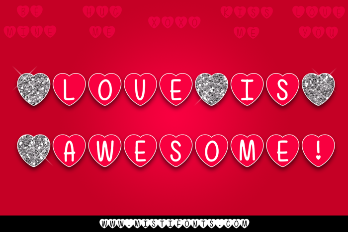Mf Love Is Awesome Font poster