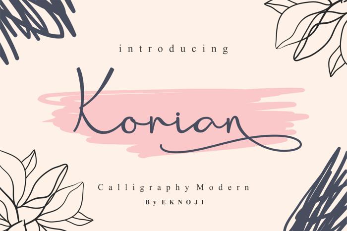 Korian Font poster
