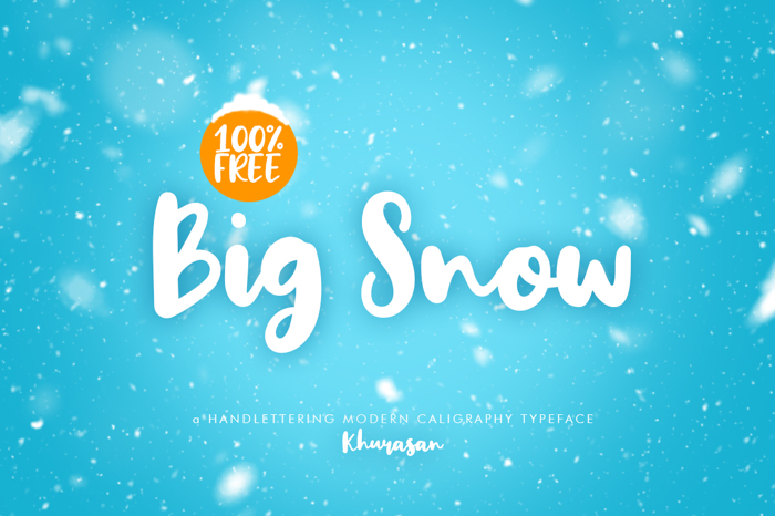 Big Snow Font poster