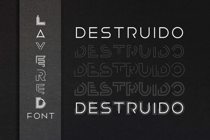 Destruido Font