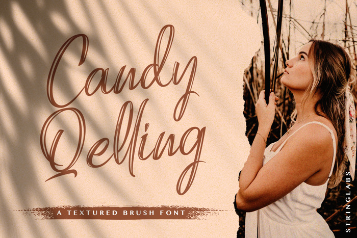 Candy Qelling Font poster