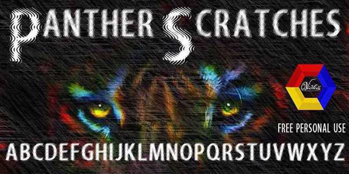 Panther Scratches Font poster