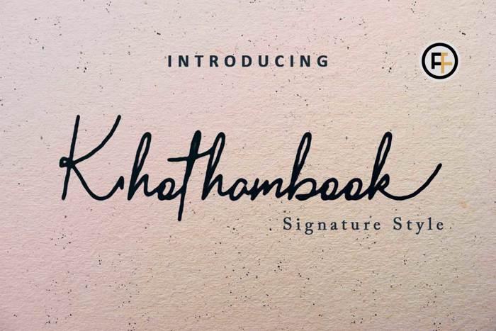 Khothambook Font poster