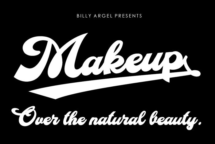 Makeup Font poster