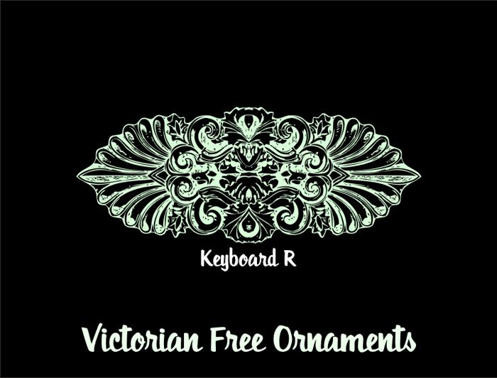 Victorian Free Ornaments Font poster