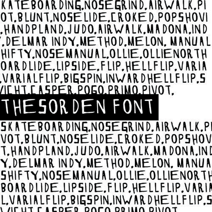 THESORDEN Font poster