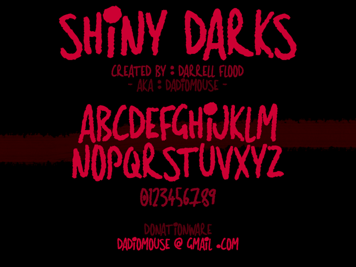 Shiny Darks Font poster