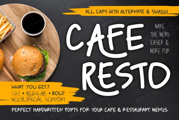 Caferesto Font poster