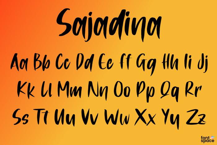Sajadina Font poster