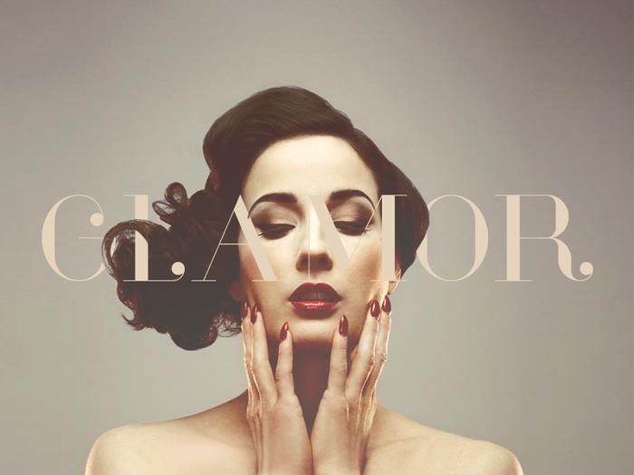 Glamor Font poster