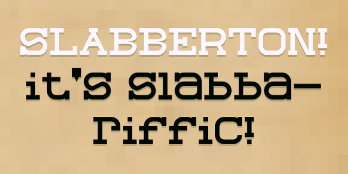Slabberton Font poster