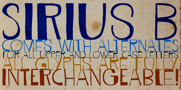DK Sirius B Font poster