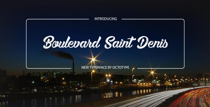 Boulevard Saint Denis Font poster