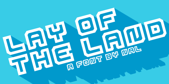 Lay Of The Land Font poster