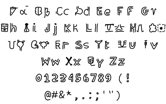 organolphabet Font poster