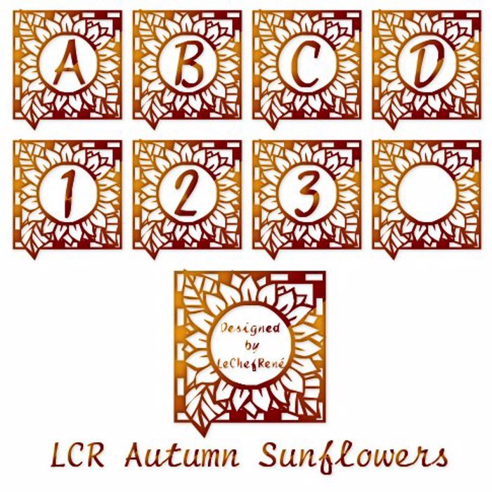 LCR Autumn Sunflowers Font poster